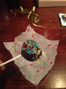 Instead of cake we had cakepops...