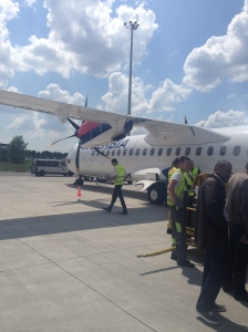 Air Serbia plane, smallest plane I've ever been on.